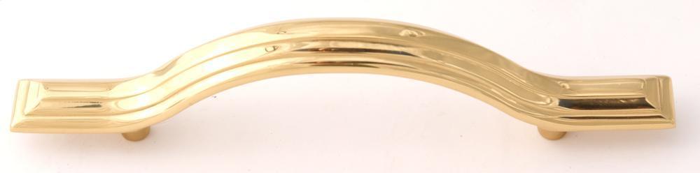 Geometric Pull A1515-35 - Polished Brass