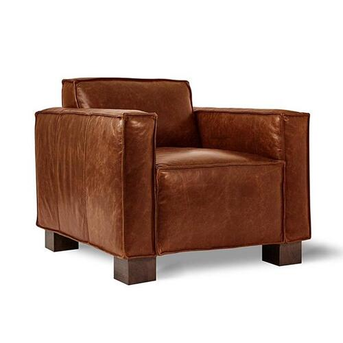 Cabot Chair Saddle Brown Leather