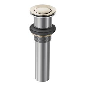 Moen Polished Nickel Spring Loaded Push Button Bathroom Drain Assembly (without overflow)