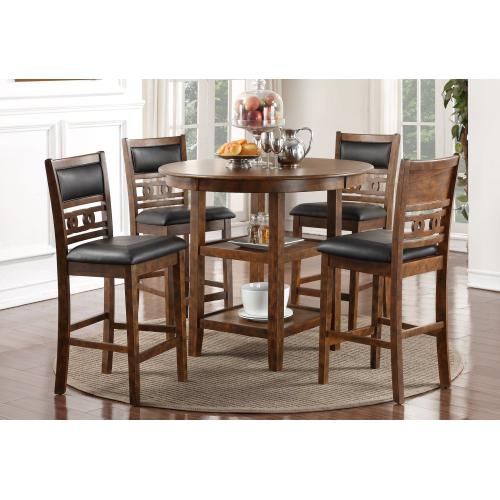 New Classic Furniture - Gia Round Dining Table 5 Pc Set