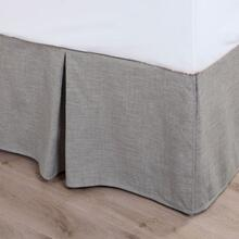 Solid Taupe Linen Bed Skirt - King