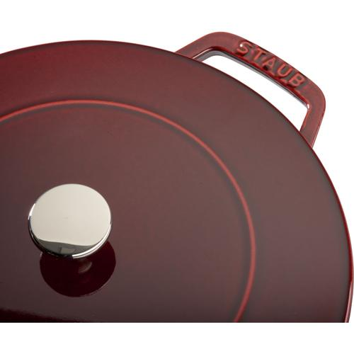 Staub Cast Iron 3.75-qt Essential French Oven - Visual Imperfections - Grenadine