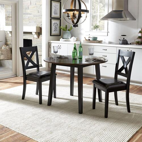 464CD3DLS  3 Piece Drop Leaf Table Set