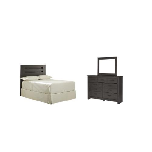 Product Image - Full Panel Headboard With Mirrored Dresser