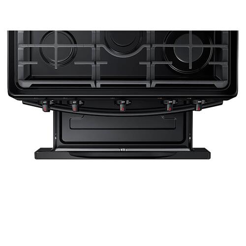 Samsung - 5.8 cu. ft. Freestanding Gas Range with Convection in Black