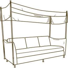 U141-03 Bimini Outdoor Sofa With Canopy