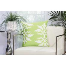 """Outdoor Pillows As065 Apple Green 20"""" X 20"""" Throw Pillow"""