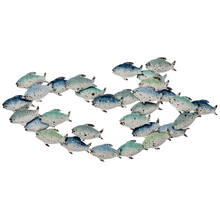 View Product - Blue & White Ombre Layered Fish Wall Decor
