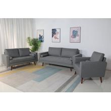 8113 3PC LIGHT GRAY Linen Stationary Living Room SET