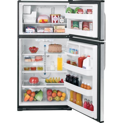 GE® 21.0 Cu. Ft. Stainless Top-Freezer Refrigerator