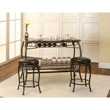 Sunset Trading Chloe Bar with Built-In Wine Rack & Two Stools