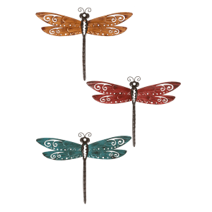 Dragonfly Wall Decor - Med. (6 pc. ppk.)