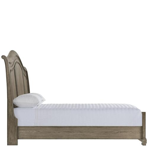 Louis Farmhouse - King/california King Panel Footboard - Antique Oak Finish