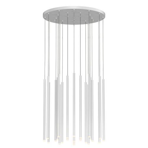 "Sonneman - A Way of Light - Light Chimes LED Pendant [Size=24-Light 24"", Color/Finish=Satin White]"