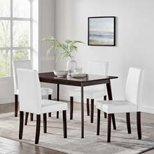 Prosper 5 Piece Dining Set in Cappuccino