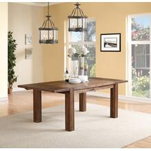 Meadow Counter Height Table with Brick Brown Finish