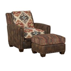 Grand Junction Leather/Fabric Chair, Grand Junction Leather/Fabric Ottoman