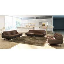 Divani Casa 3979 Modern Brown Bonded Leather Sofa Set