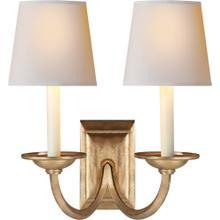 Visual Comfort CHD1496GI-NP E. F. Chapman Flemish 2 Light 13 inch Gilded Iron Decorative Wall Light