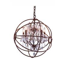 Geneva 4 light Rustic Intent Pendant Clear Royal Cut crystal
