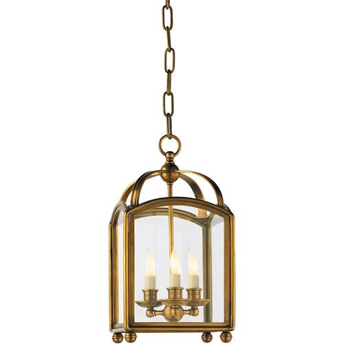 Visual Comfort CHC3420AB E. F. Chapman Arch Top 3 Light 8 inch Antique-Burnished Brass Foyer Pendant Ceiling Light