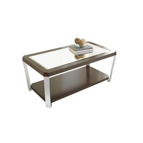 Truman Cocktail Table [stainless steel]