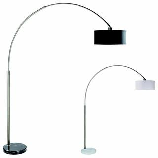Floor Lamp -chrome W/bk Marble Base