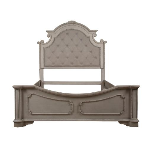 Queen Size Headboard, Footboard and Side rails, Available in Antique White Finish Only.