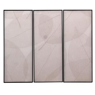 Set of 3 original designer patterns reverse printed on glass