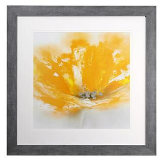 Wild Orange Sherbert I print under glass framed in deep grey