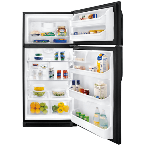 Frigidaire 18 Cu. Ft. Top Freezer Refrigerator (This is a Stock Photo, actual unit (s) appearance may contain cosmetic blemishes. Please call store if you would like actual pictures). This unit carries A ONE YEAR MANUFACTURER WARRANTY. REBATE NOT VALID with this item. ISI  36616 W