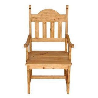 Wood Seat Plain Arm Chair