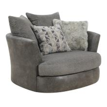 Berlin Swivel Accent Chair, Gray Herringbone & Sanded Microfiber U4551-04-03
