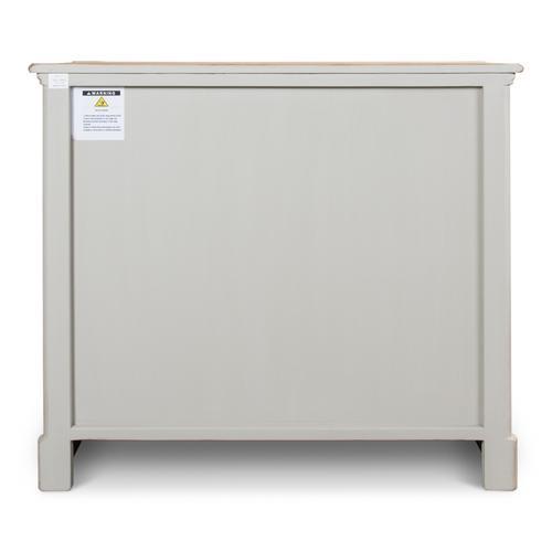 Petit Commode W/Drawers,Soft White/Grey