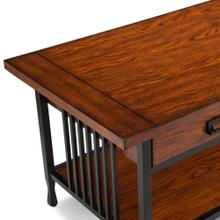 View Product - Two Drawer Coffee Table - Ironcraft Collection #11204