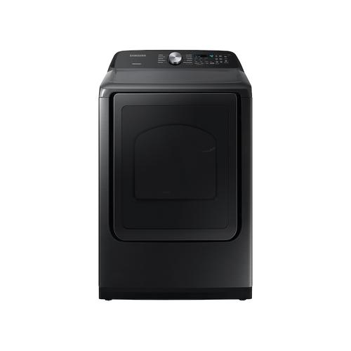 Samsung - 7.4 cu. ft. Capacity Gas Dryer with Sensor Dry in Brushed Black
