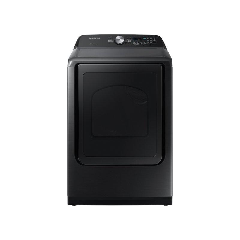 7.4 cu. ft. Capacity Electric Dryer with Sensor Dry in Brushed Black