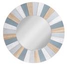 Blue & Whitewash Slat Wall Mirror Product Image