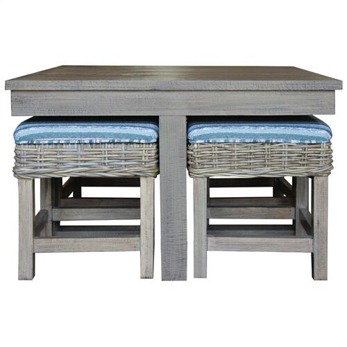 Hassock Table, Available in Grey Wash or Royal Oak Finish.