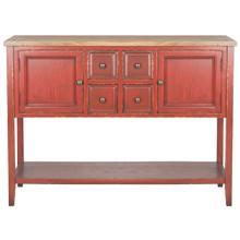 See Details - Charlotte Storage Sideboard - Egyptian Red / Oak