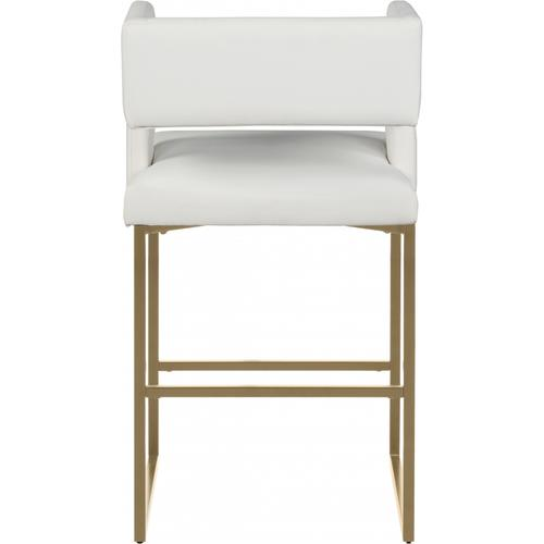 """Caleb Faux Leather Counter Stool - 19.5"""" W x 20.5"""" D x 36"""" H"""