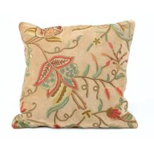 Ecru Floral Motif Pillow
