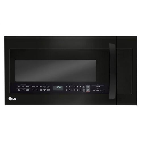 LG - LG Matte Black Stainless Steel 2.0 cu.ft. Over-the-Range Microwave Oven with EasyClean®