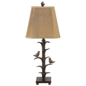 Bronzed Bird on a Branch Table Lamp. 100W Max. 3 Way Switch.