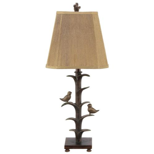 Gallery - Bronzed Bird on a Branch Table Lamp. 100W Max. 3 Way Switch.