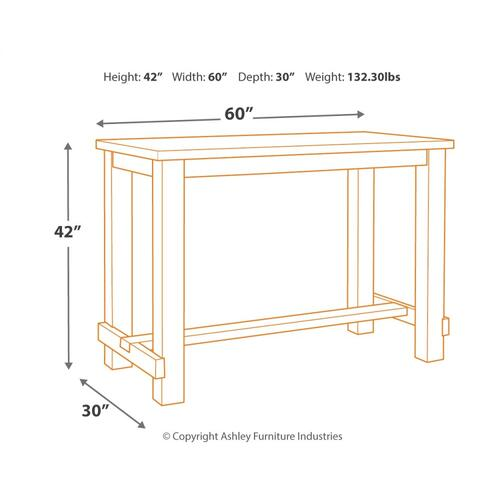 Drewing 5PC Sofa Bar Dining Set (D538)