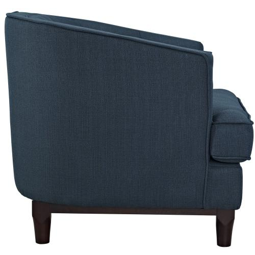 Modway - Coast Upholstered Fabric Armchair in Azure