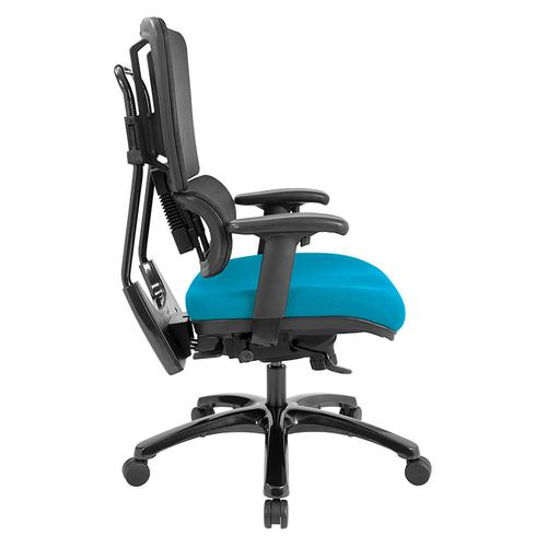 Office Star - Vertical Black Mesh Back Chair With Shiny Black Base