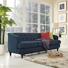Coast Upholstered Fabric Sofa in Azure