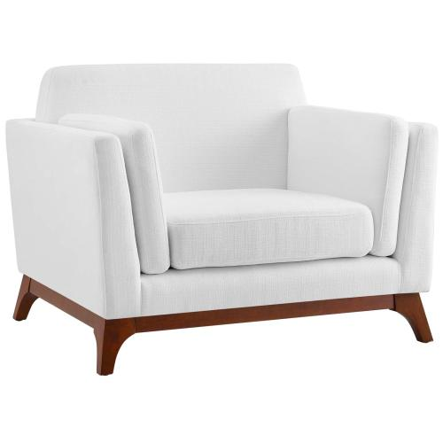 Chance Upholstered Fabric Armchair in White